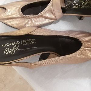 Shoe Lot - Gold pair and Black Pair